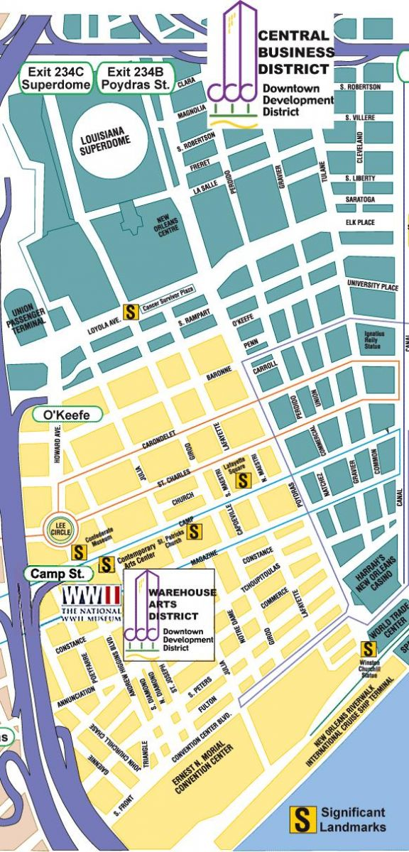 graphic about French Quarter Map Printable identify Fresh Orleans Neighborhood Maps Upon The Metropolis