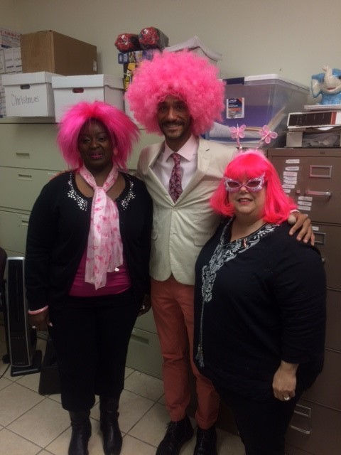pink wigs breast cancer awareness month