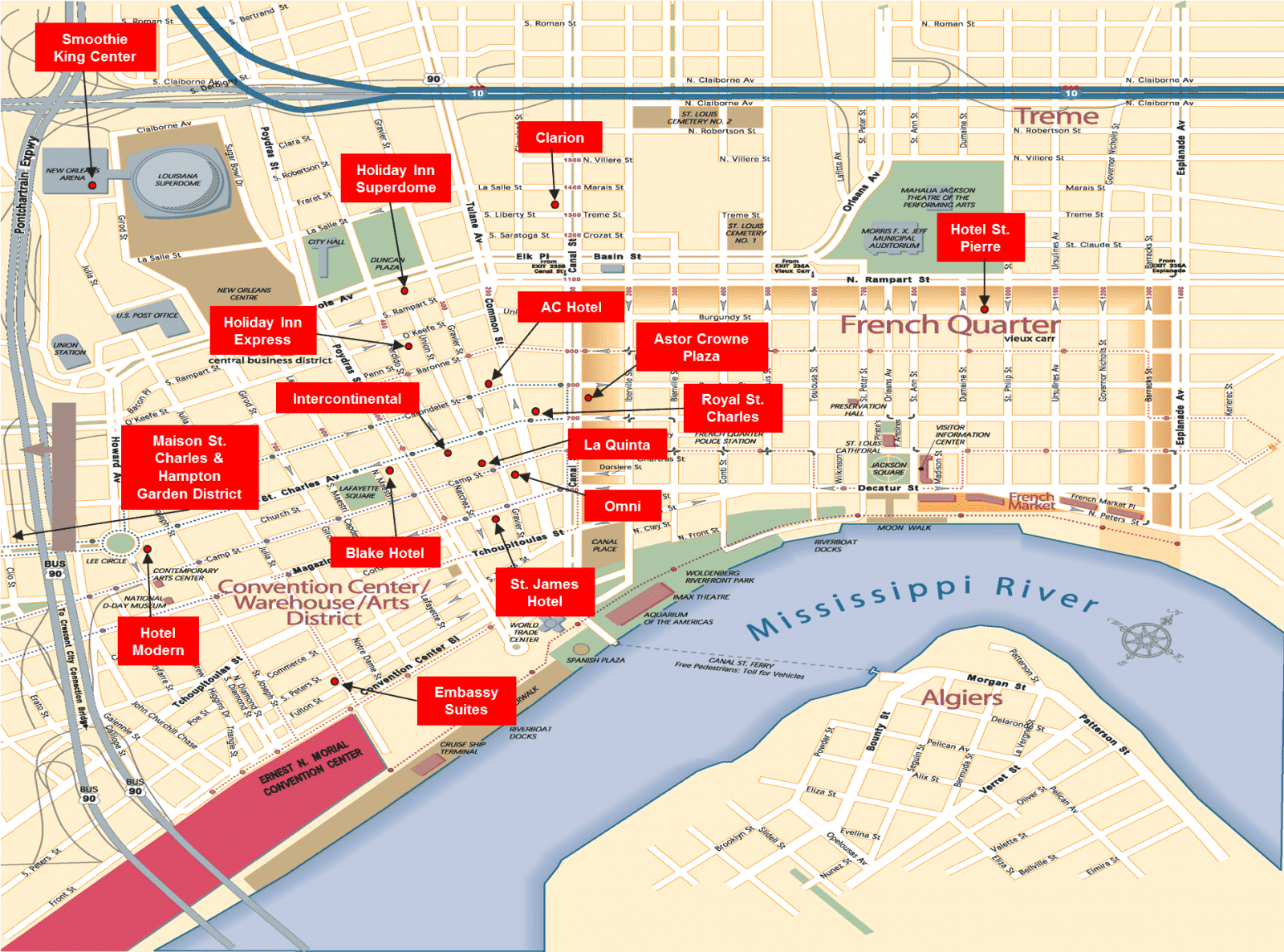 View Map Of Hotels